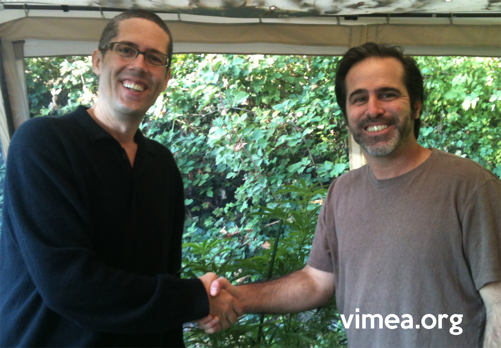 VIMEA founder, Shango Los and Executive Director Dominic Corva of The Center for the Study of Cannabis and Social Policy celebrate the agreement.
