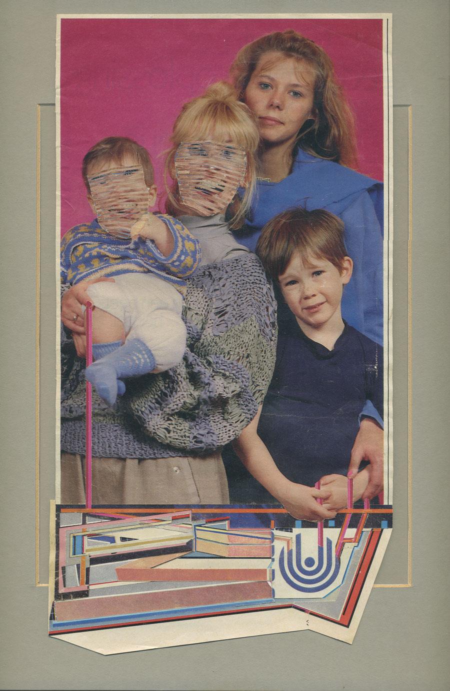 untitled (graft)   found magazines, glue, rubber cement, found frame    2012