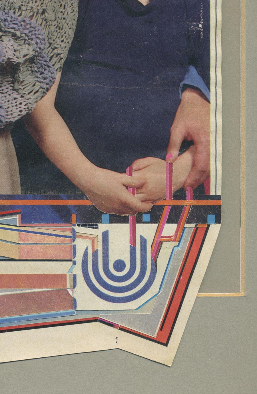 untitled (graft)   found magazines, glue, rubber cement, found frame    detail    2012