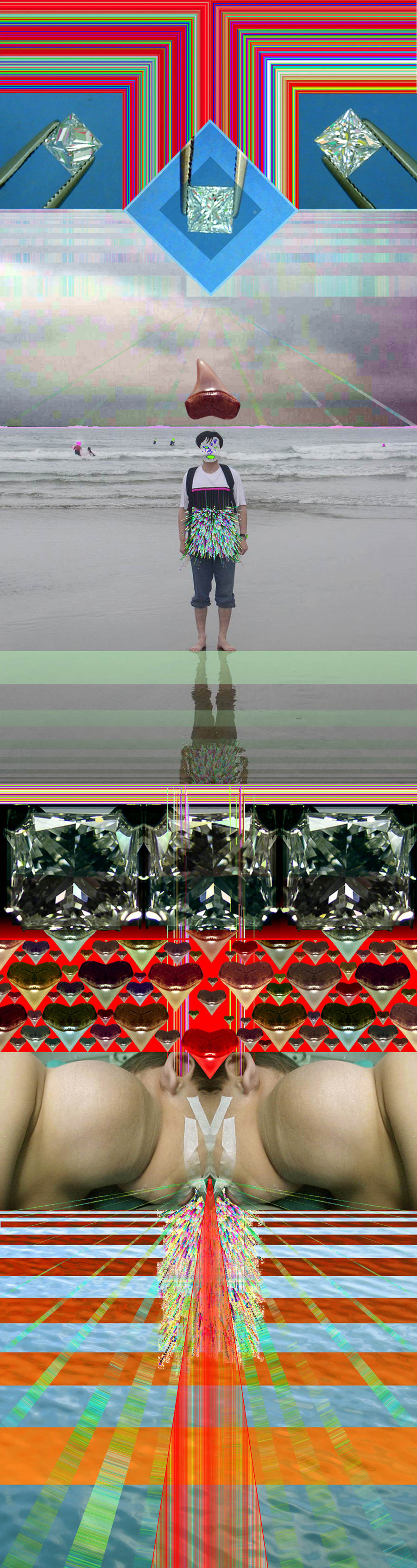 lajolla and the lamb  internet, digital collage  2007   click for larger image