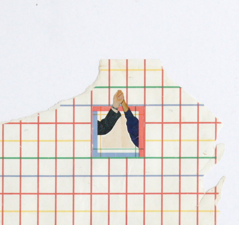 untitled   found dutch tabloid, salvaged wallpaper, glue, rubber cement, mat board, found frame    detail    2012