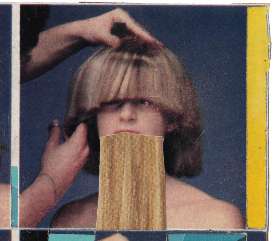 gossipgirl  found magazines, glue stick   detail   2008