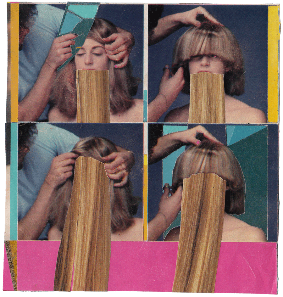 gossipgirl  found magazines, glue stick   2008