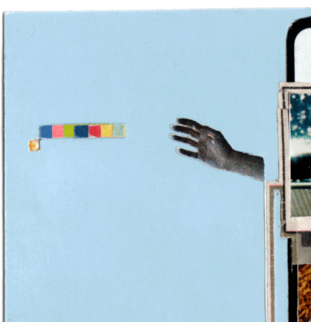 the touch  magazines, glue stick, rubber cement, fluorescent paper   detail   2008