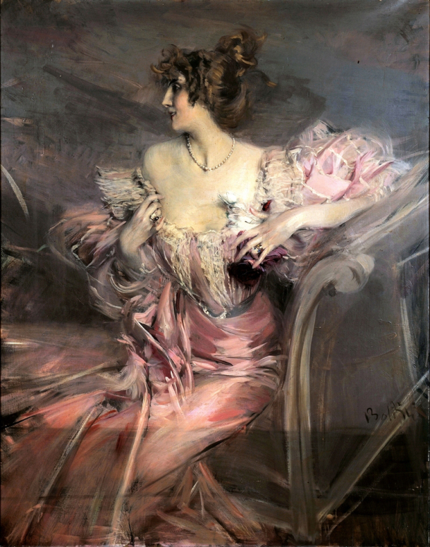 This painting by19th century Italian painter Giovanni Boldini recently sold at auction for€2.1 million.