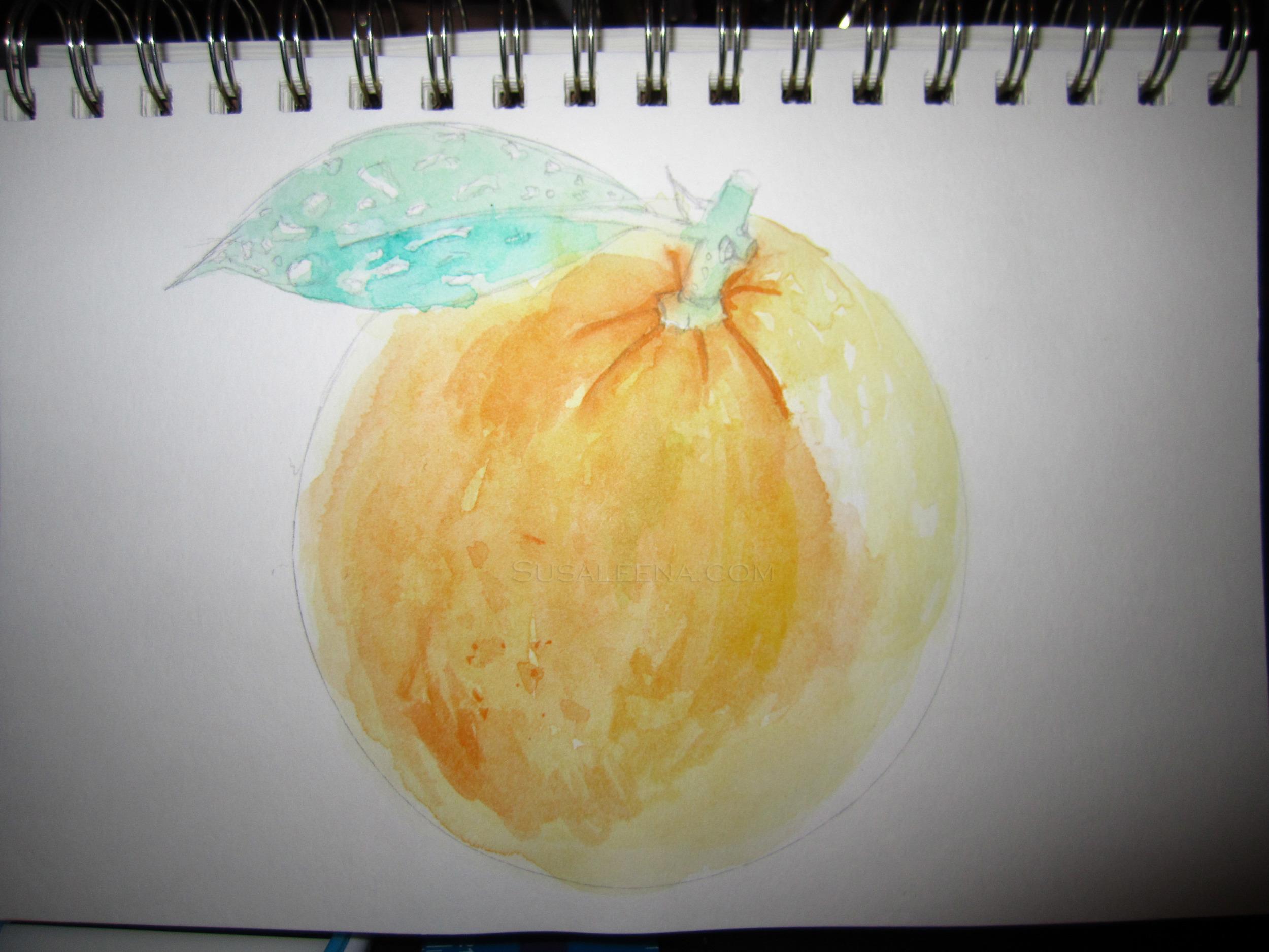 My 5min doodle of an orange