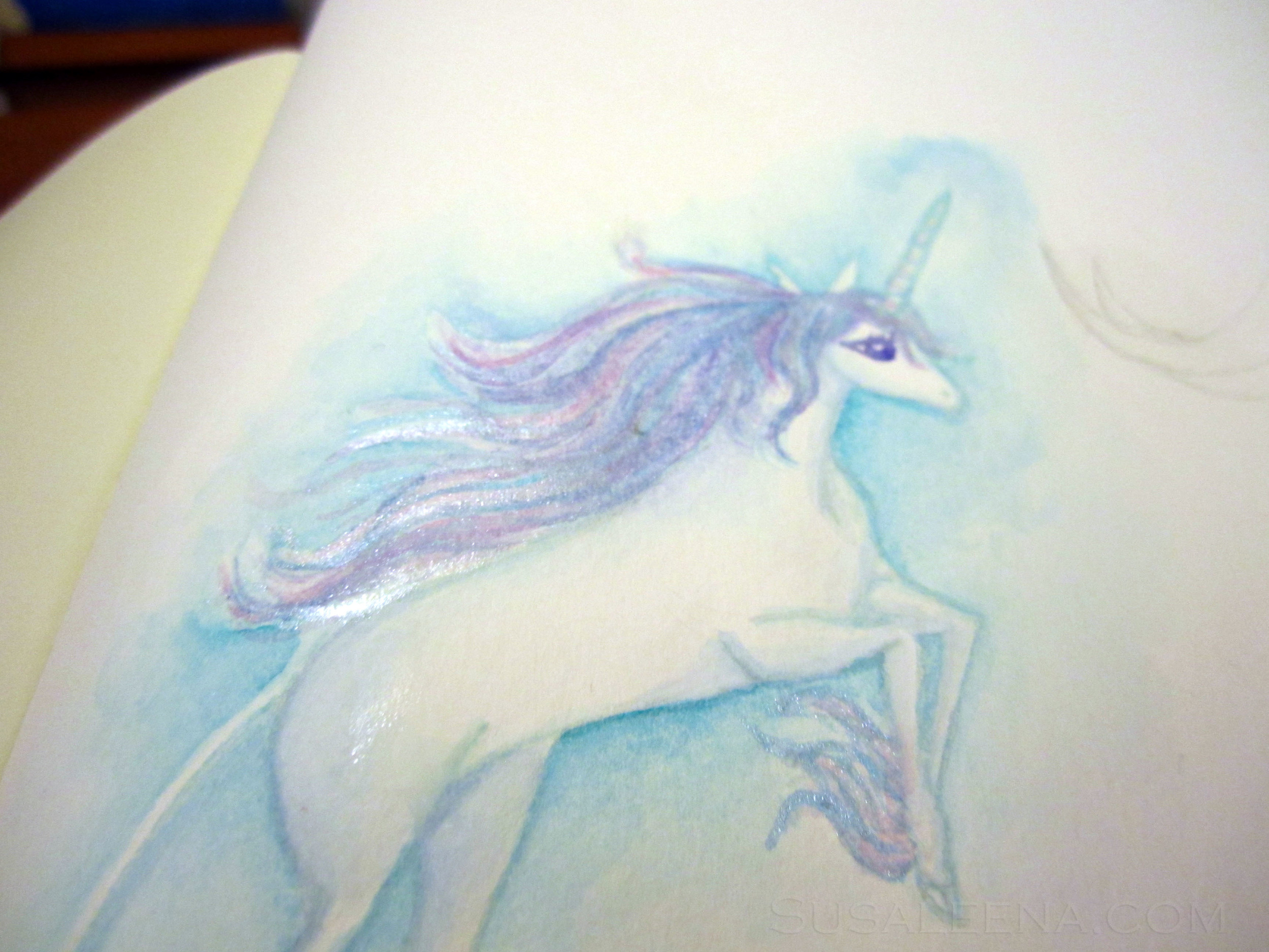Closeup of The Last Unicorn