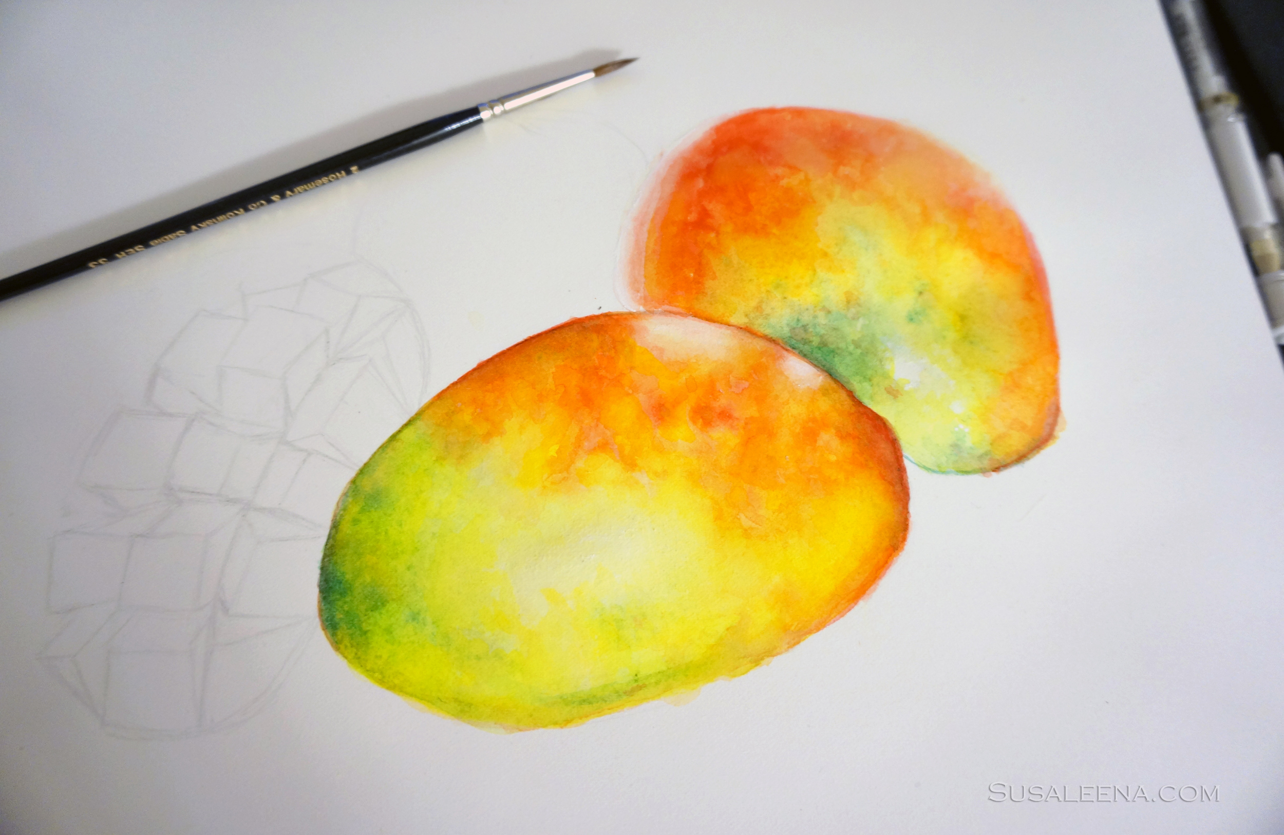 Painting fruits always makes me crave some...delicious!