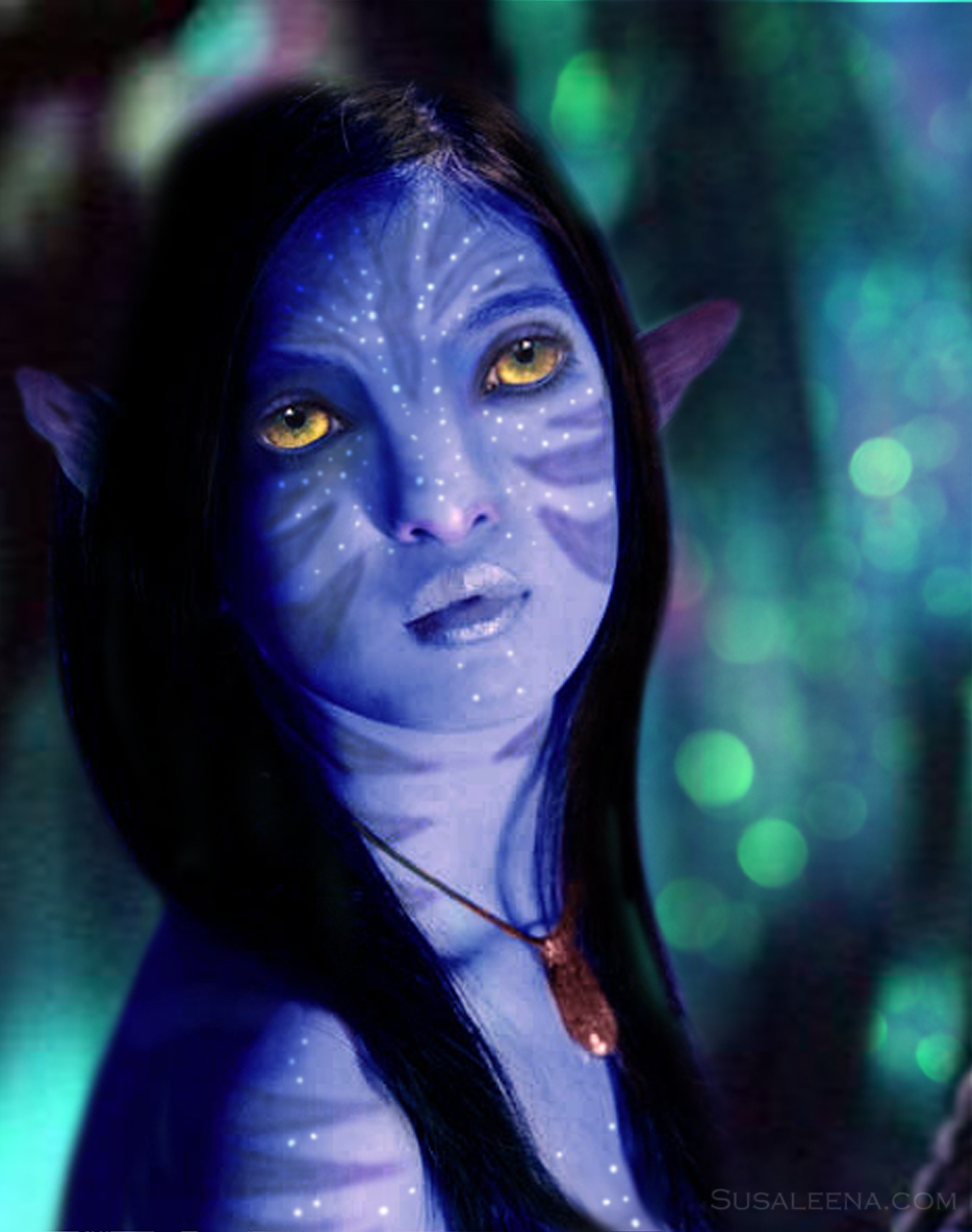 """A self portrait of myself as a """"Na'Vi"""" from James Cameron's 2009 movie """"Avatar"""""""