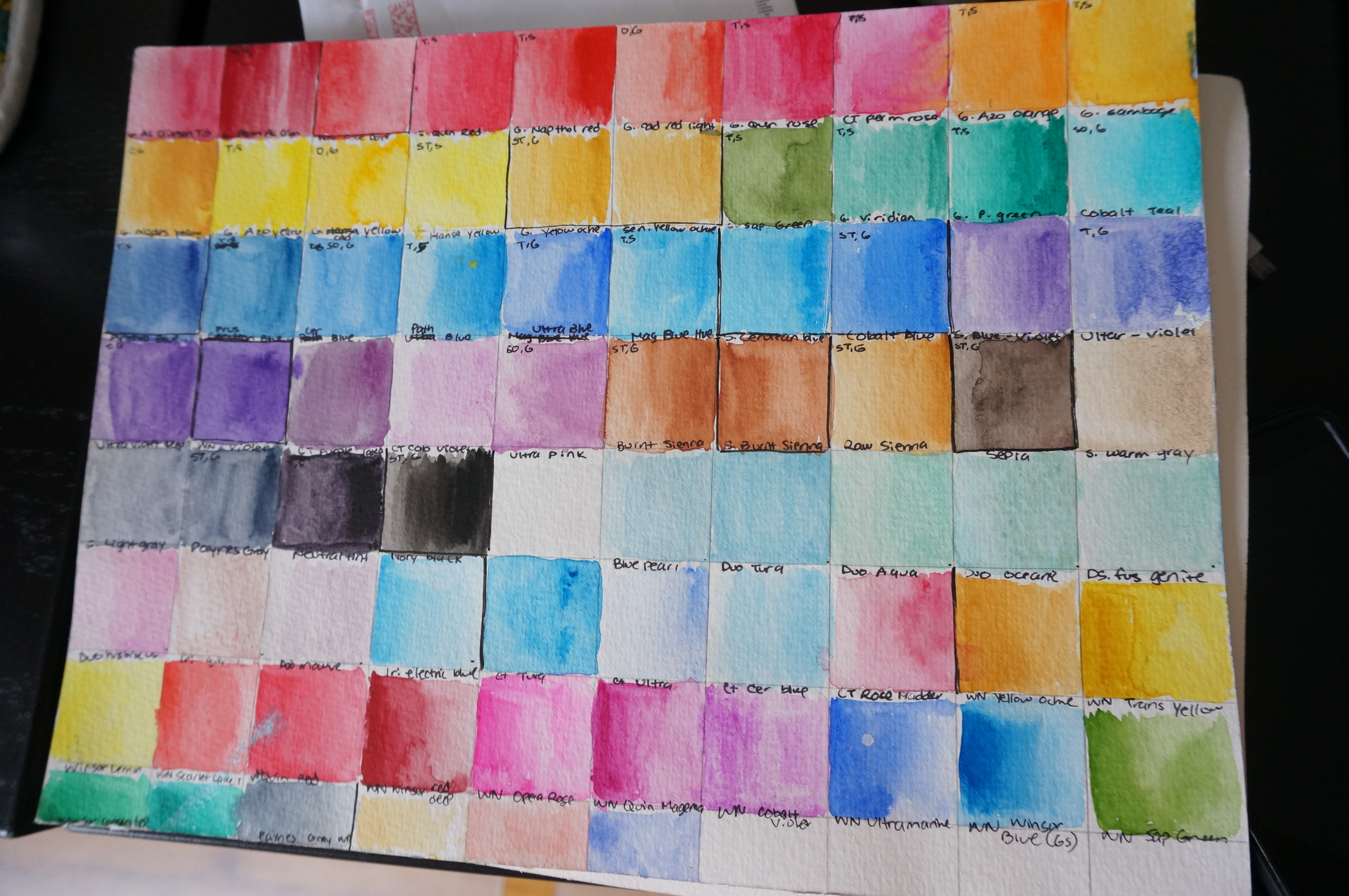 "Just a sample of my ""Master Color Chart"""