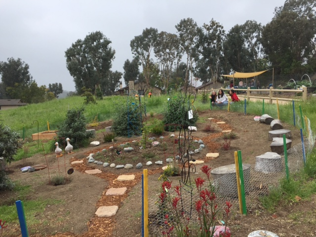 YSA - Disney Summer of Service Winner, S. Kirshnan, organized and donated plants and time to developing a Pollinator's Garden. The hummingbirds, butterflies and honey bees are most thankful.