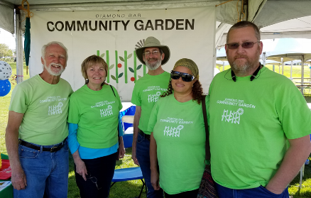 Check out our shirts: Designed and Donated by the Russell's'. Thank you.  From Left to Right: William Flournoy, Karen Gerloff, John Hoffner, Linda and Ken Russell