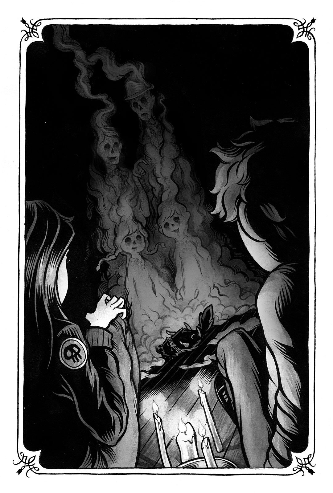 Interior illustration for  The Year of Shadows