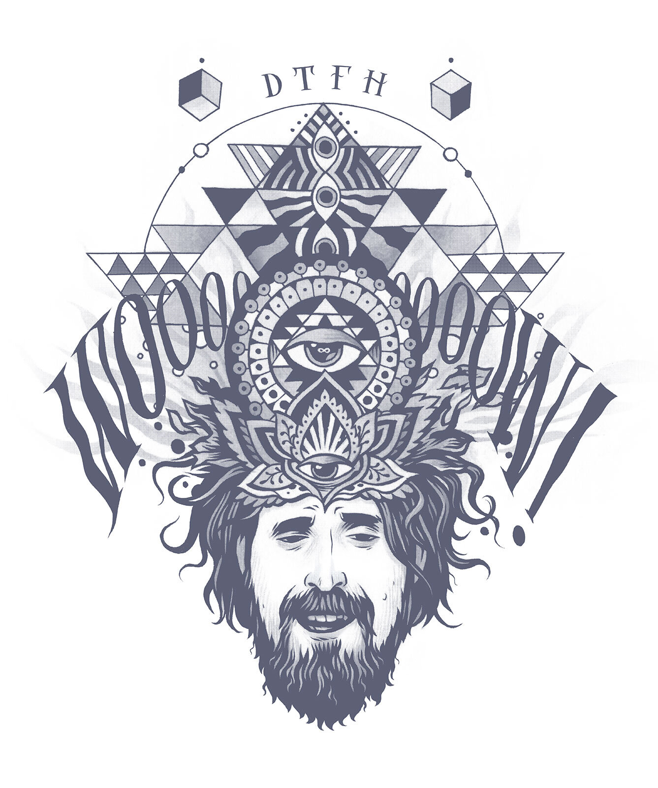 T-shirt illustration for  The Duncan Trussell Family Hour