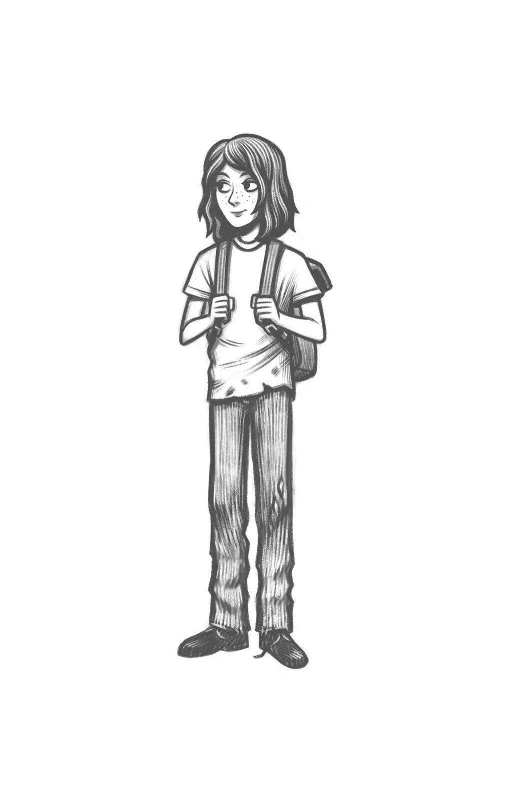 Emma character drawing