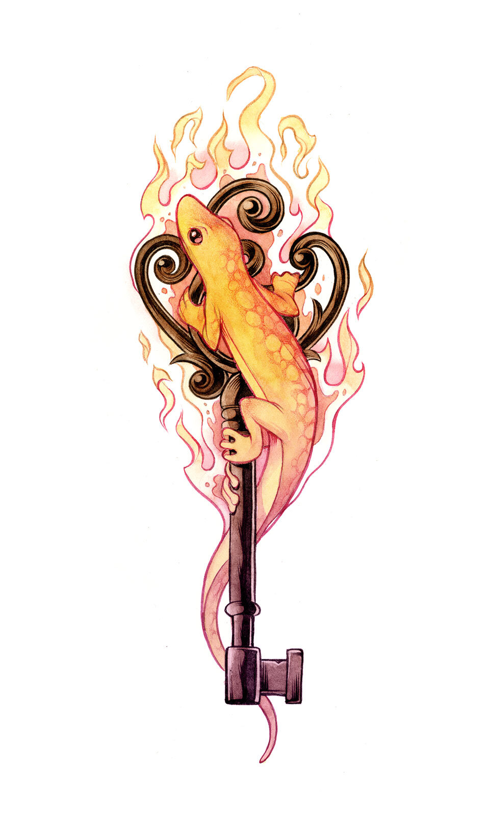Spot illustration for  The Key & the Flame