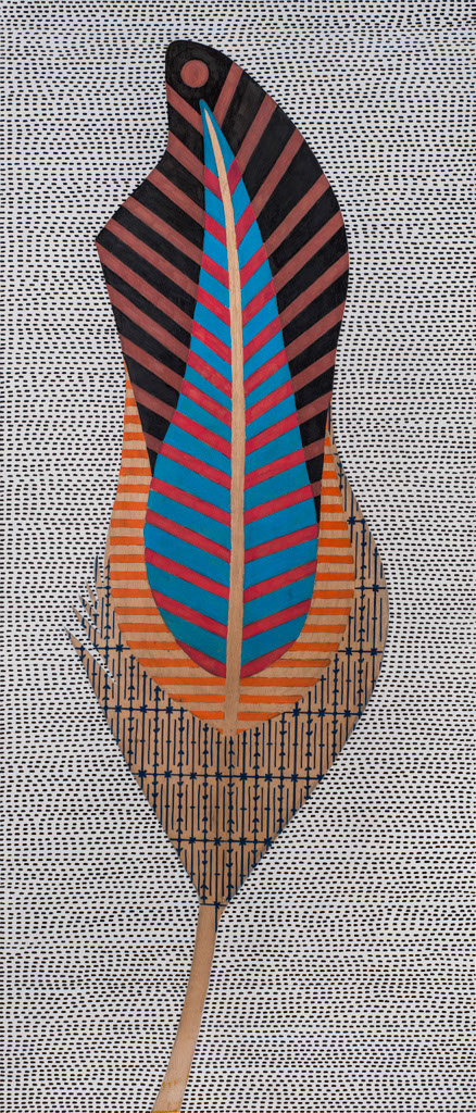 DNA of a thought  Acrylic & markers on wood, 140X60cm