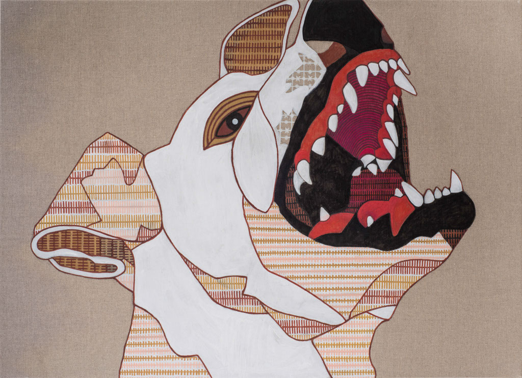 My inner guard 2  Acrylic & markers on wood, 70X100cm