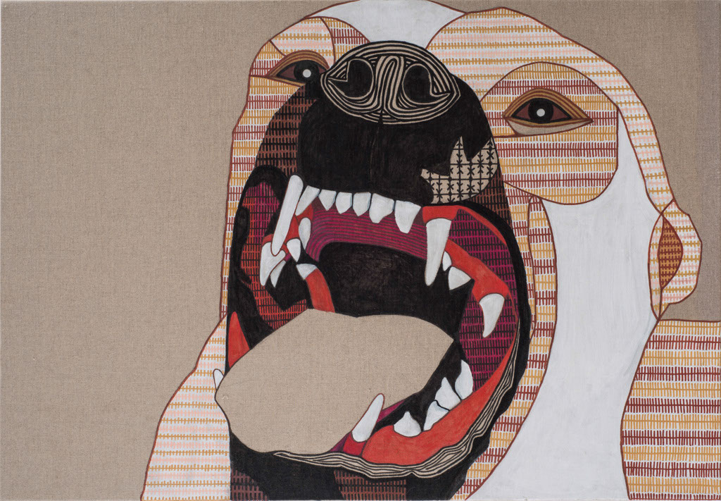 My inner guard 1  Acrylic & markers oncanvas,70X100cm