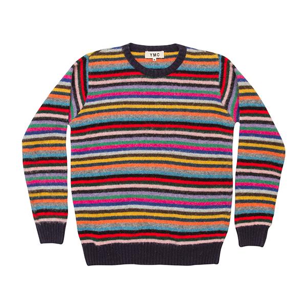 Y.M.C.   Brushed Wool Stripe Knit  £179