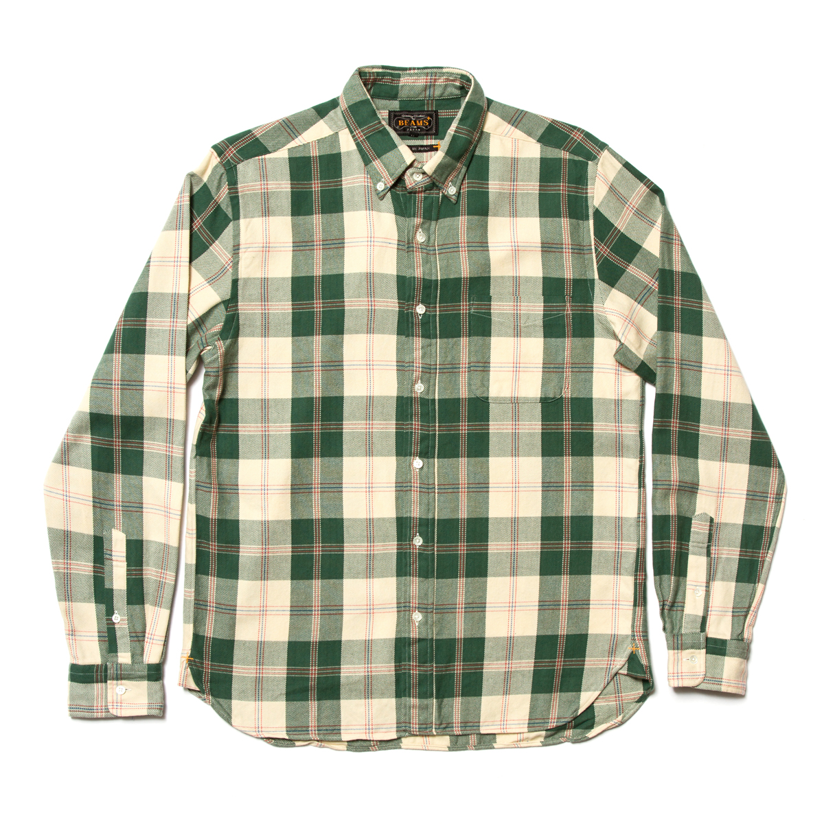 Beams Plus Button Down Top Yarn Check Shirt £119