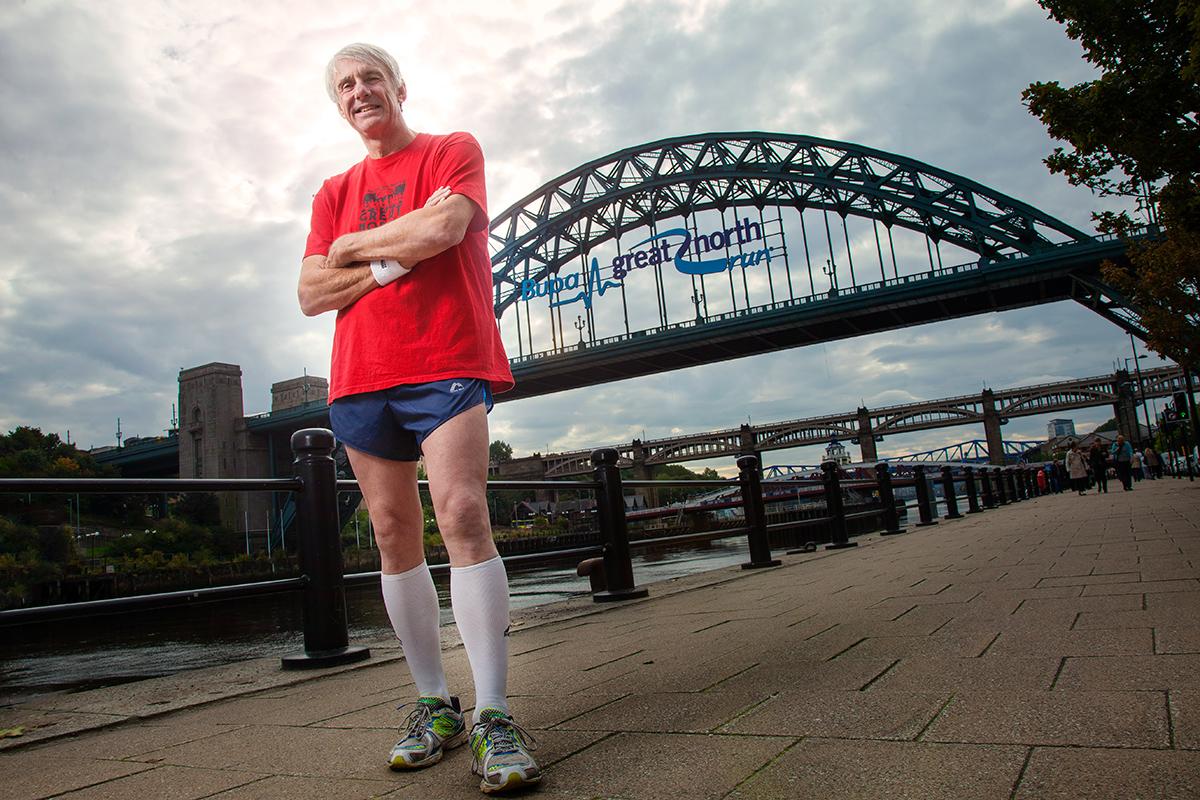 George Nicholson in Newcastle for Runner's World Magazine