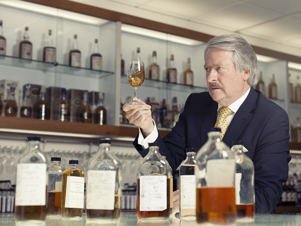 Richard Paterson, master blender of Whyte and Mackay at their headquarters in Glasgow, Scotland