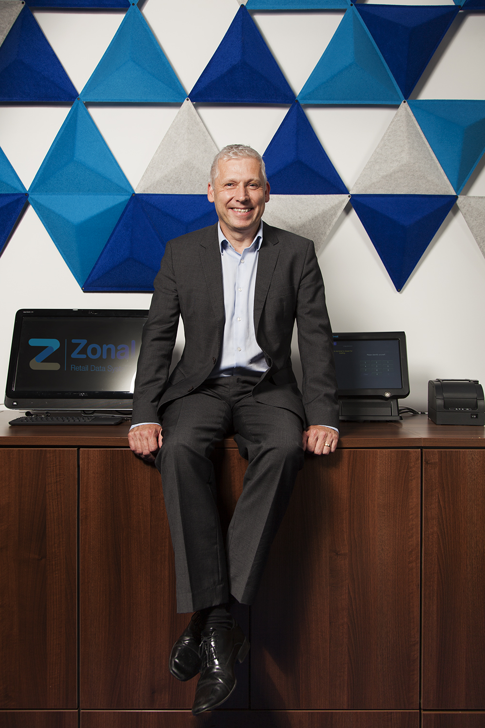 Stuart Mclean CEO of Zonal Retail Data Systems. Shot at their Haed Office in Edinburgh.