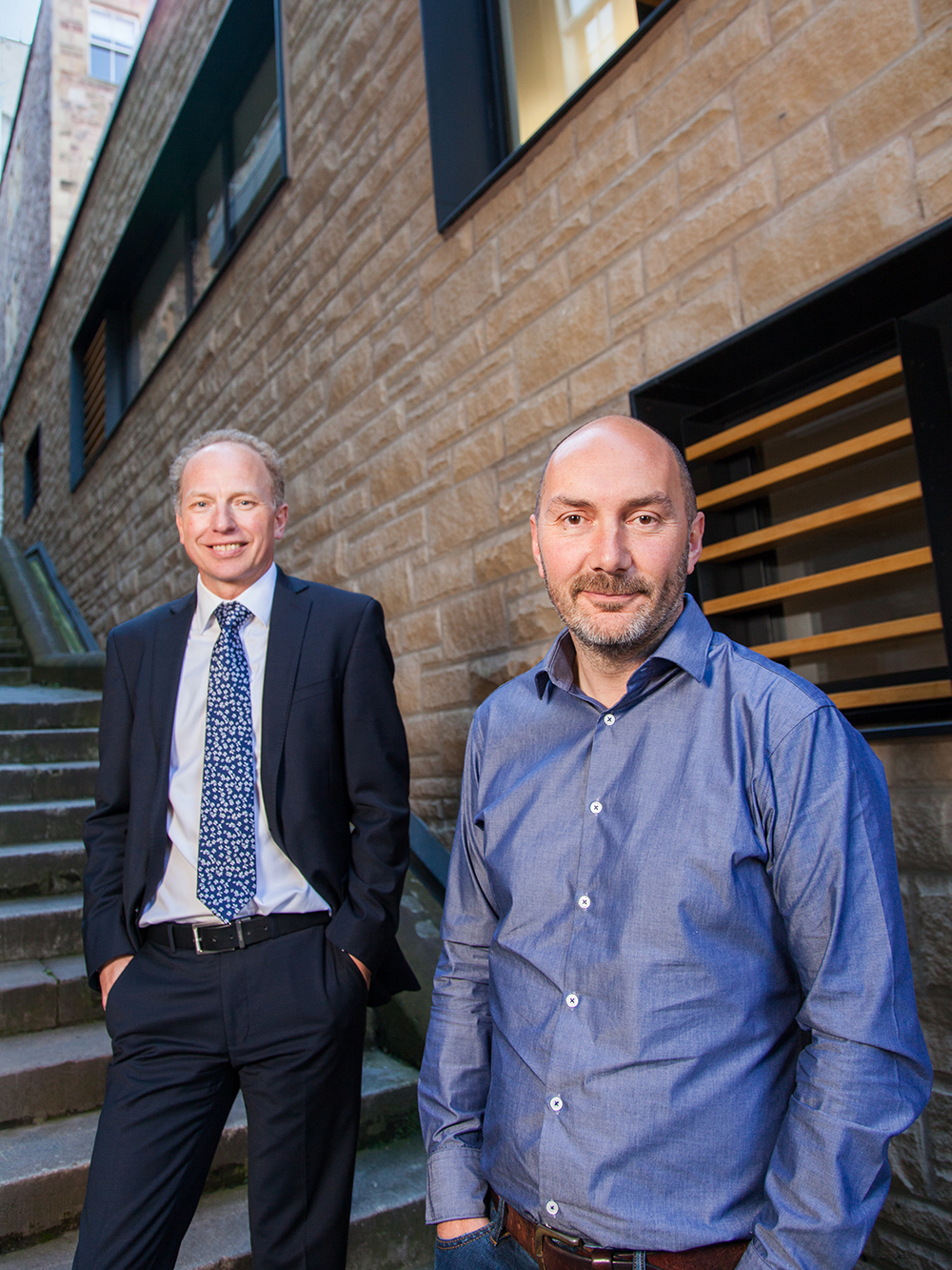 Guy Morgan and Brian Donaldson from Edinburgh Architecture firm Morgan McDonnell