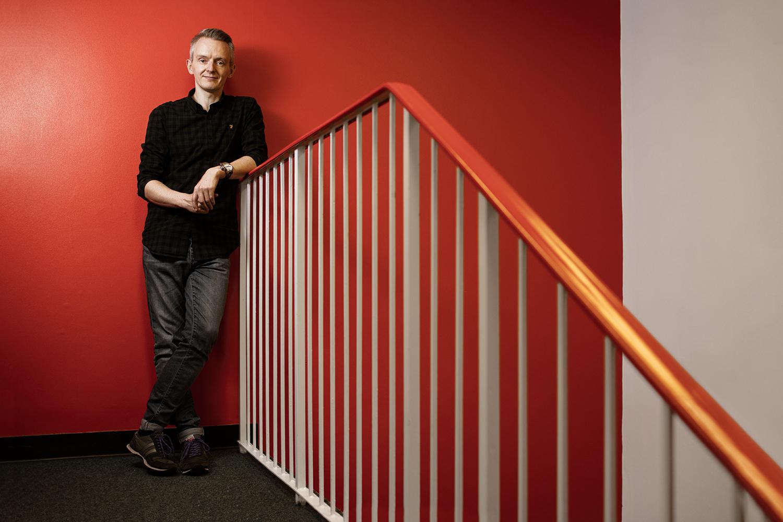 Editorial Portrait : Graeme McKellar - Radio Clyde in Glasgow.