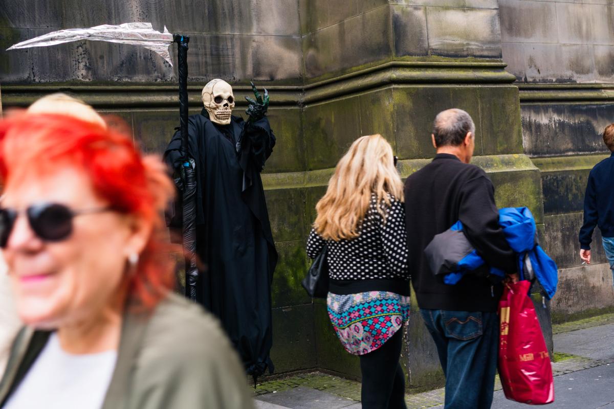 Author Ian Rankin in Edinburgh