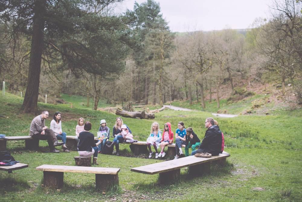 Storytelling in Ladyroyd Field, Hardcastle Crags