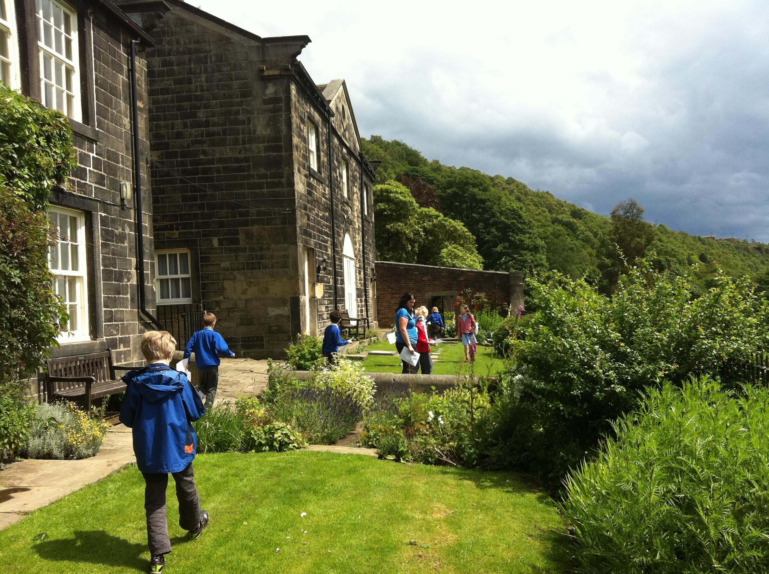 Lumb Bank with school children