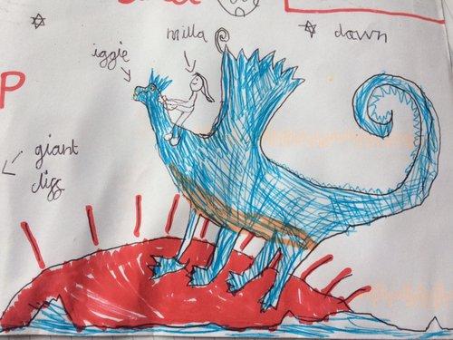 Fan art by Zoe w Iggle and Milla