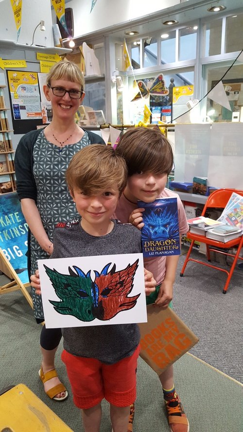Liz and readers in Independent Bookshop Week