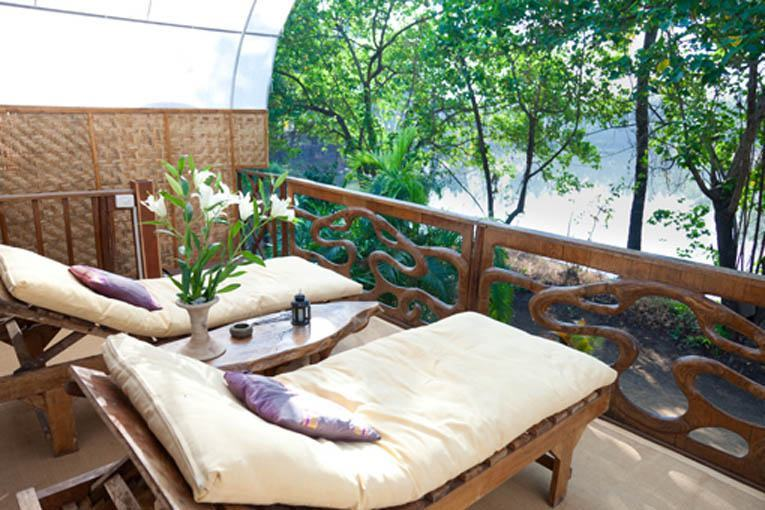 Balcony view of Mandala villas hotel accommodations