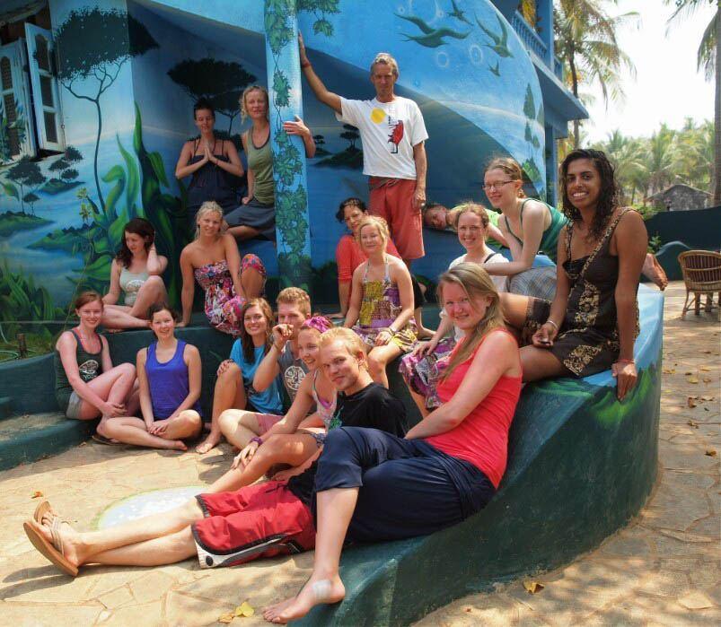 Yoga retreat group photo at The Mandala Goa