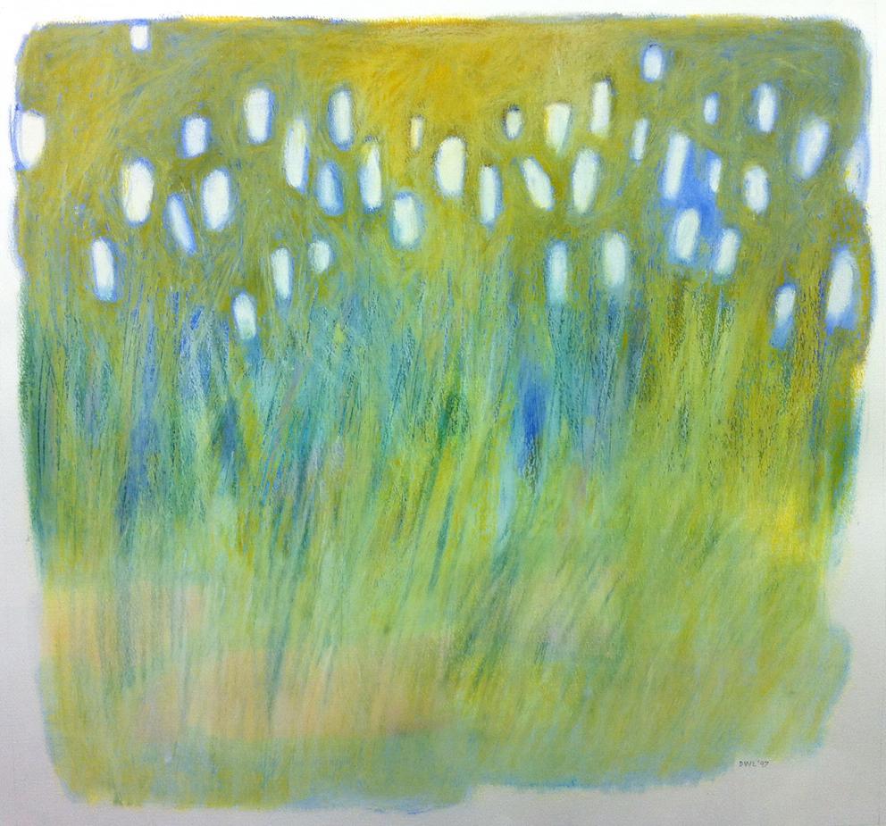 Whatever Flowers in February - Oil Pastel