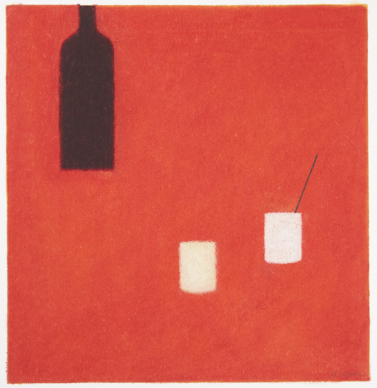 Bottles and Glasses - Oil Pastel