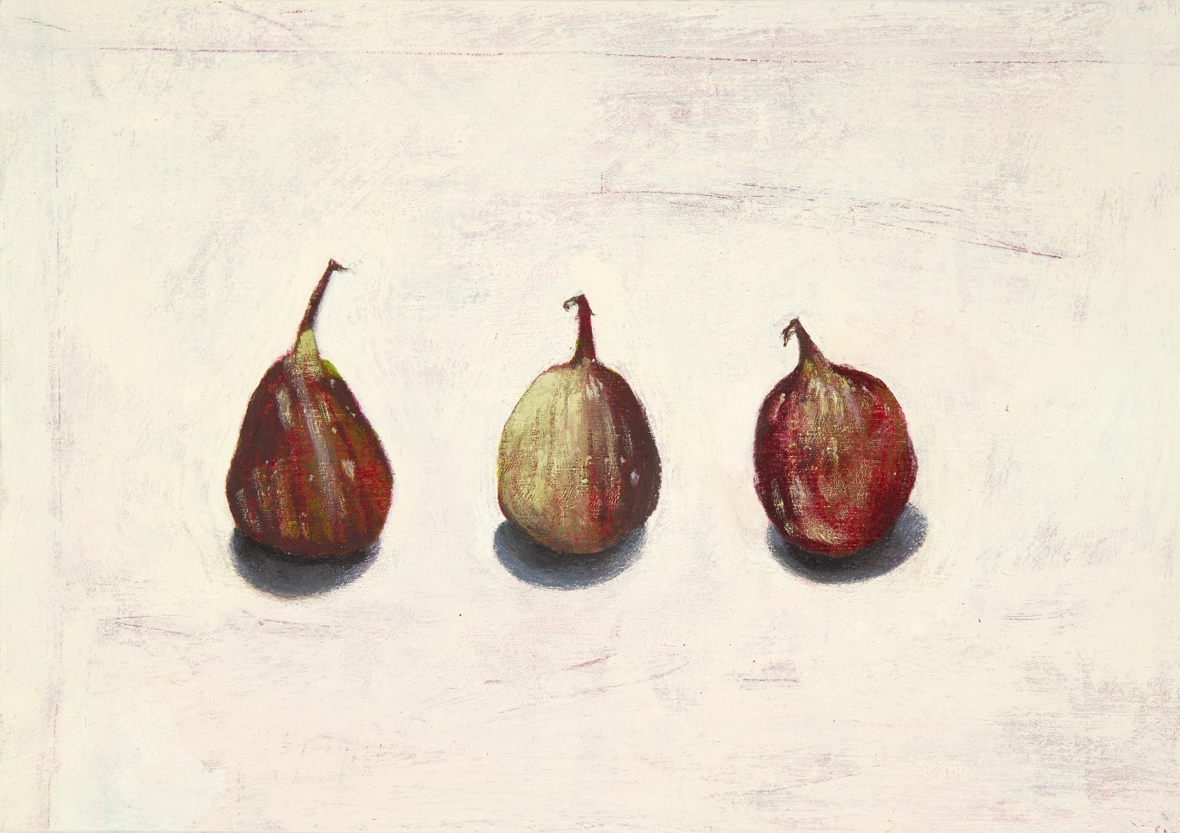 Three Over-ripe Figs - Acrylic on board