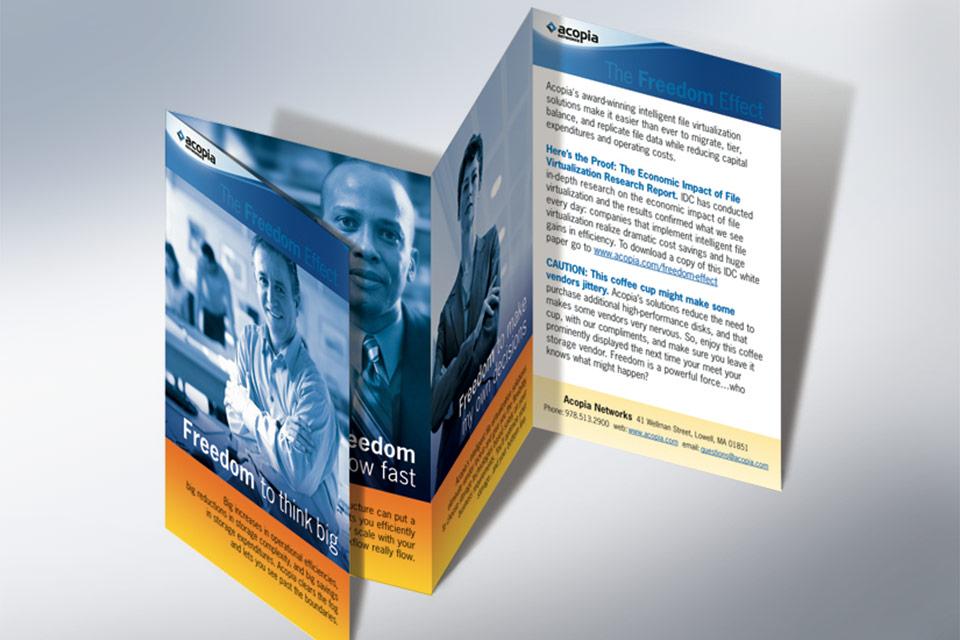Freedom Flyer     explaining Acopia's customer value
