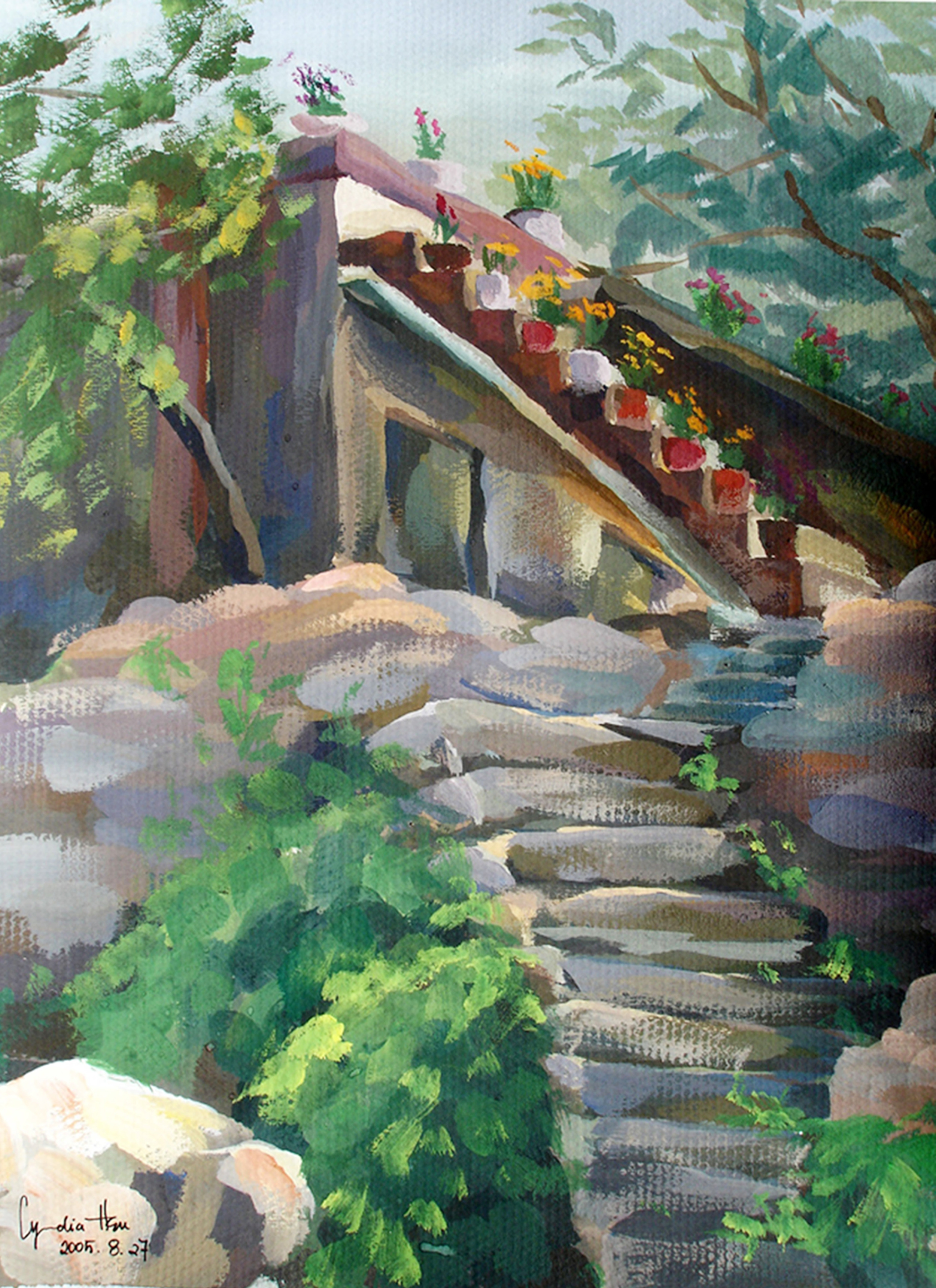 A collection of gouache paintings from a village in the mountains of Henan, China