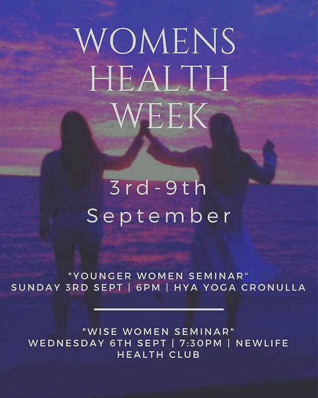 -WOMENS HEALTH WEEK- Come learn and relax with a seminar + acupuncture. The fruits of your true wisdom are just waiting to be released! 🙌🍎🍒 2 seminars to choose from more info in Link in bio! #women #womenshealth #womenshealthweek #life #love #you #seminar #acupuncture #meditation #caringbah #cronulla #HYAyoga #newlifehealthclub #newlife #newyou