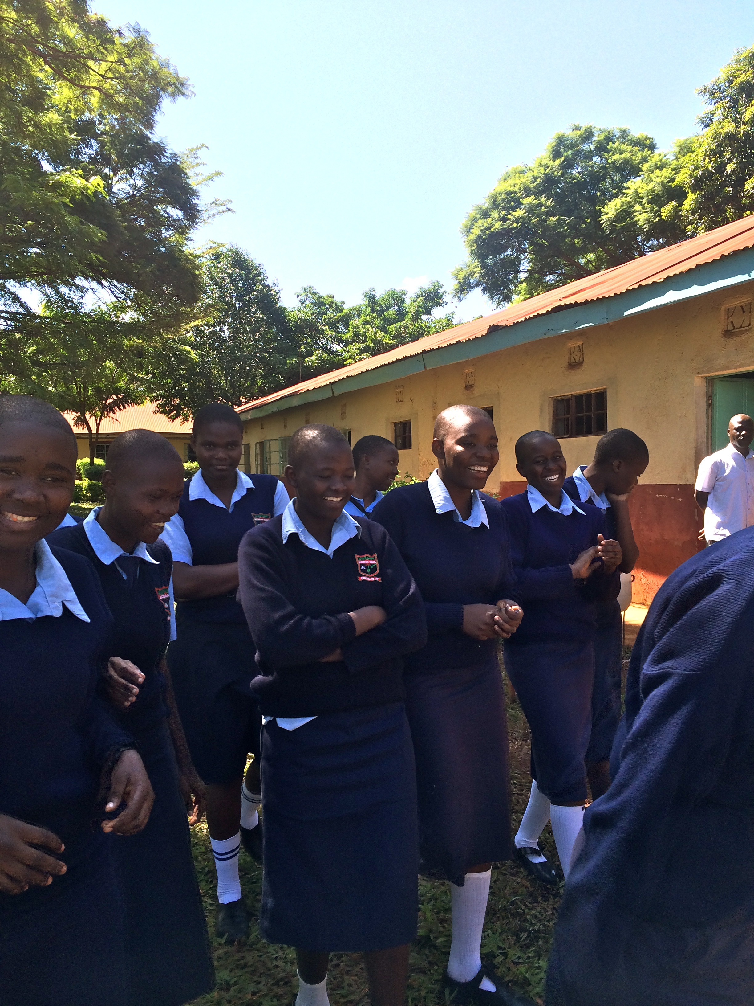 The first class of girls to be able to board at Sirembe Secondary School! Beautiful and bright young women!