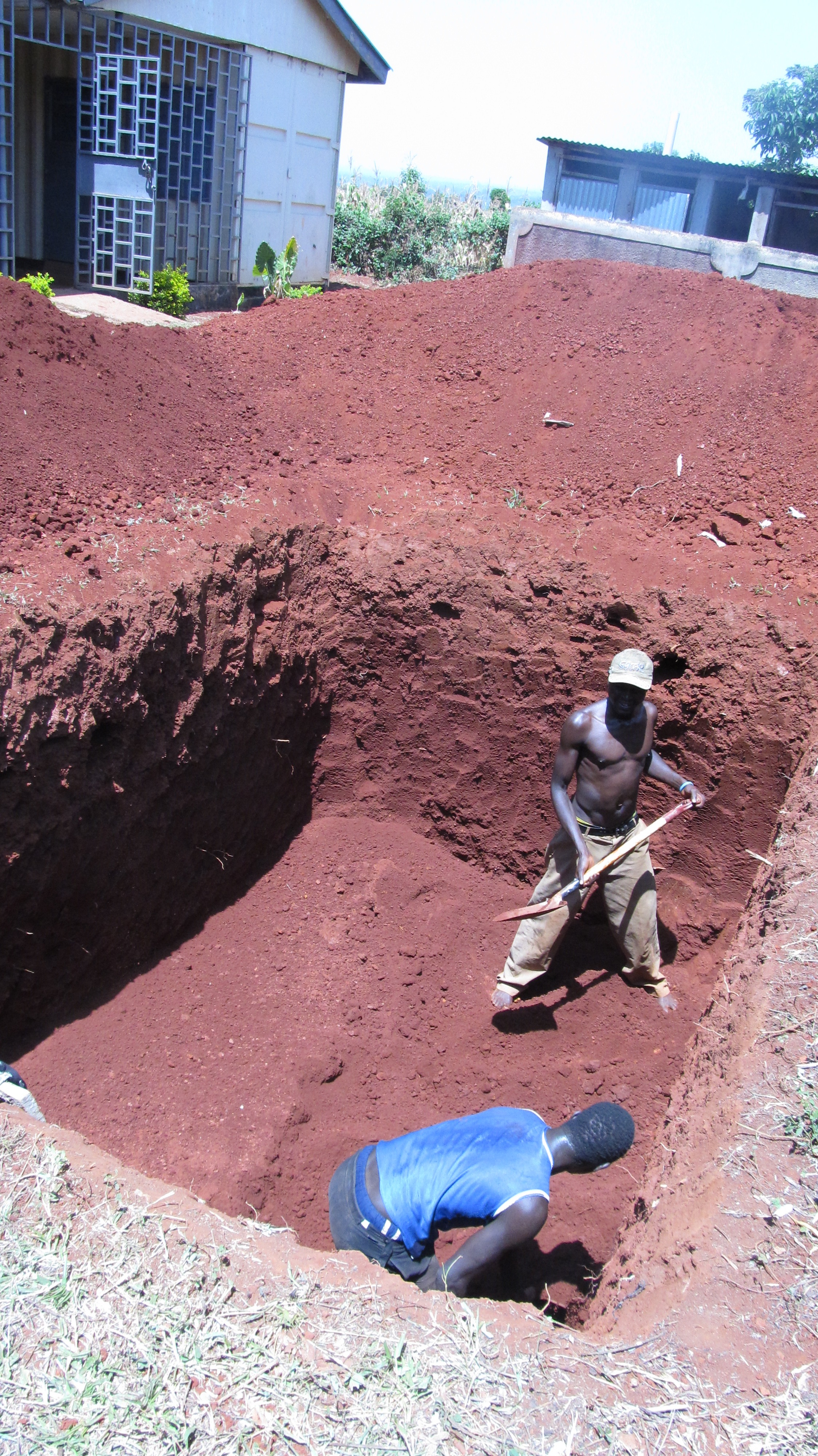 Phase 1--Digging the hole for the Septic Tank (January 2015)