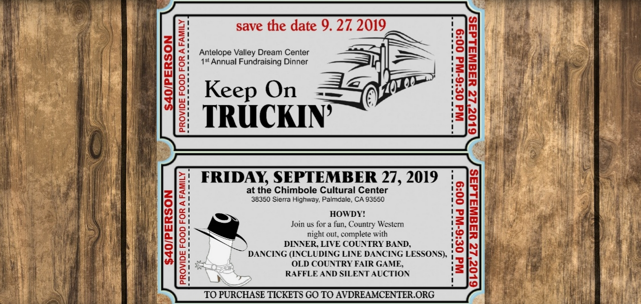 1st Annual Fundraising Dinner… - KEEP ON TRUCKIN'Join us for a night of fun with dinner, live country music, dancing, games and a chance to win some cool items!Come dressed with your favorite