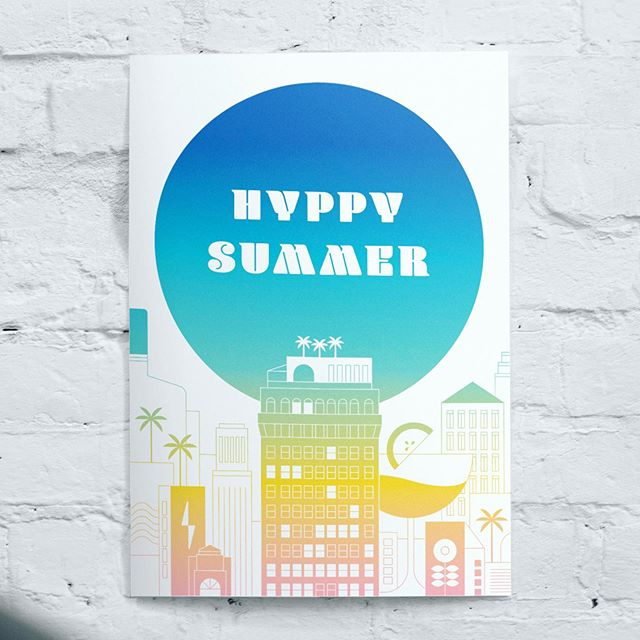 HYPPY SUMMER! Excited to share a recent design we've been working on – a tiny nod to the bright sun warming up Downtown LA this week. Stay cool, everybody! 😎  #illustration #design #graphicdesign #sun #city #building #icon #monoline #color #landscape #landscapedesign #gradient #posterdesign #poster #losangeles  Illustration by @angieegabaya