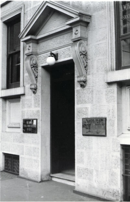 Stone entrance to 5 Elizabeth St 1956