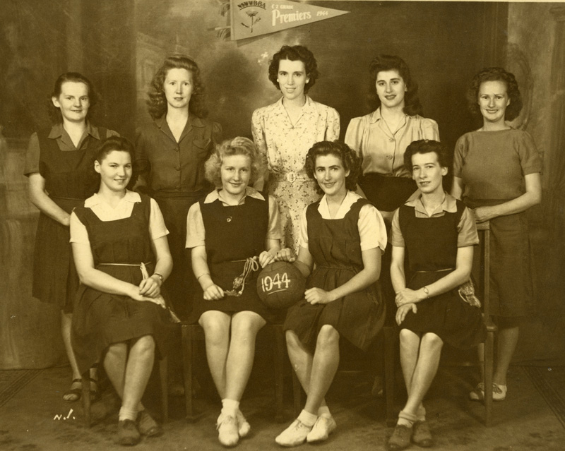 The Women's Basketball team won the Premiership in 1944'.