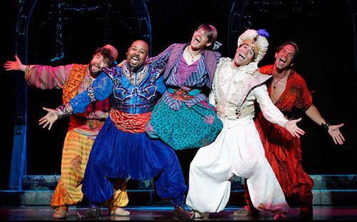 """She helped to create the fight choreography for the part of """"Omar"""", Aladdin's smallest friend! (seen above, middle)"""